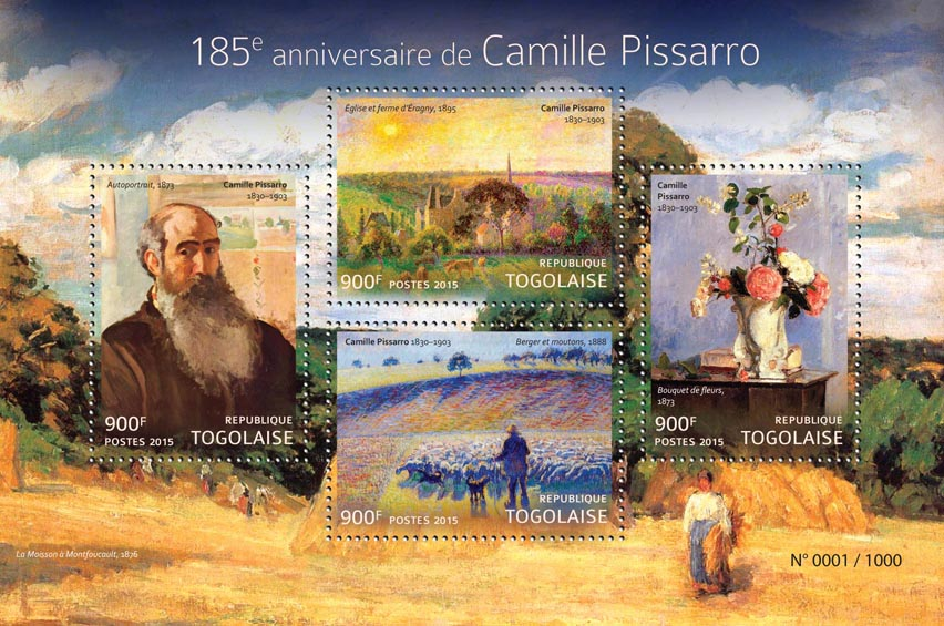 Camille Pissarro - Issue of Togo postage stamps