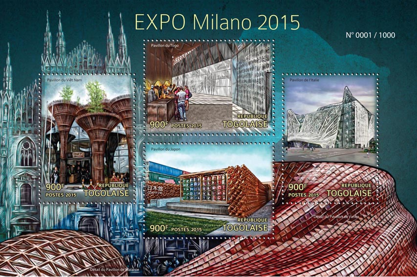 EXPO Milano 2015 - Issue of Togo postage stamps