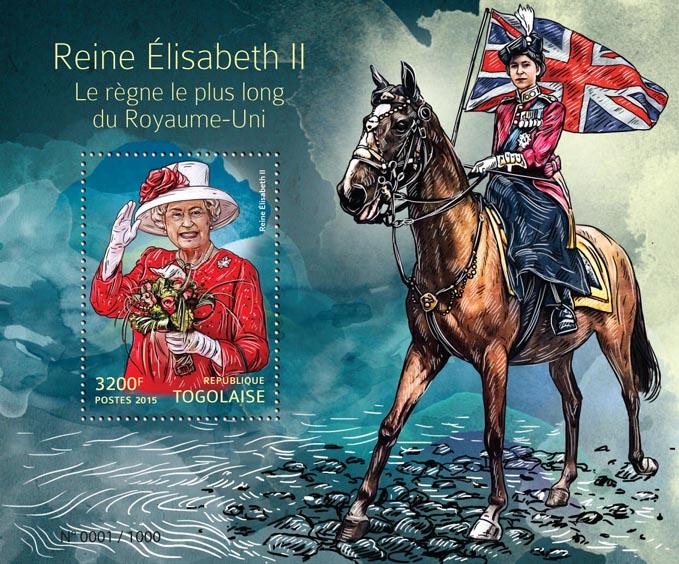 Queen Elizabeth II - Issue of Togo postage stamps