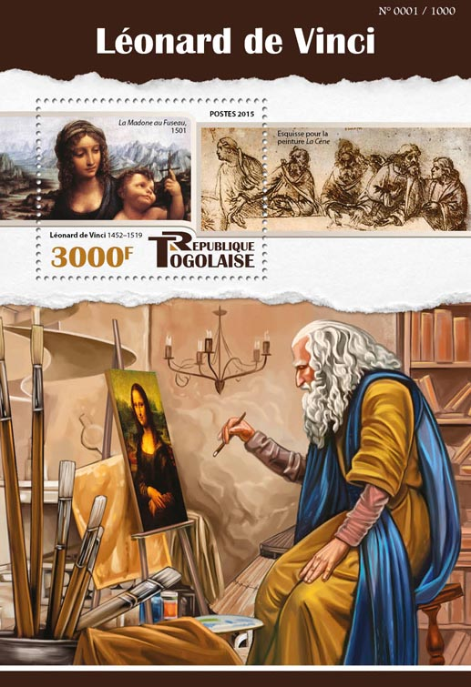 Leonardo da Vinci - Issue of Togo postage stamps