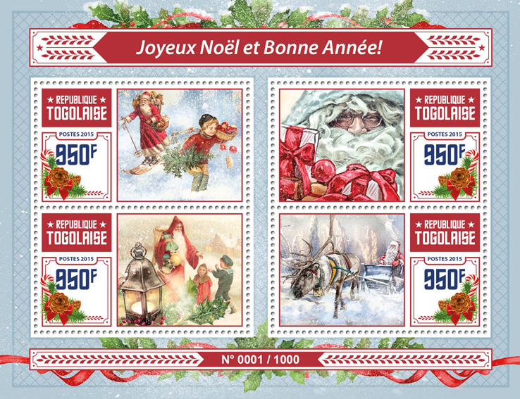 Merry Christmas - Issue of Togo postage stamps