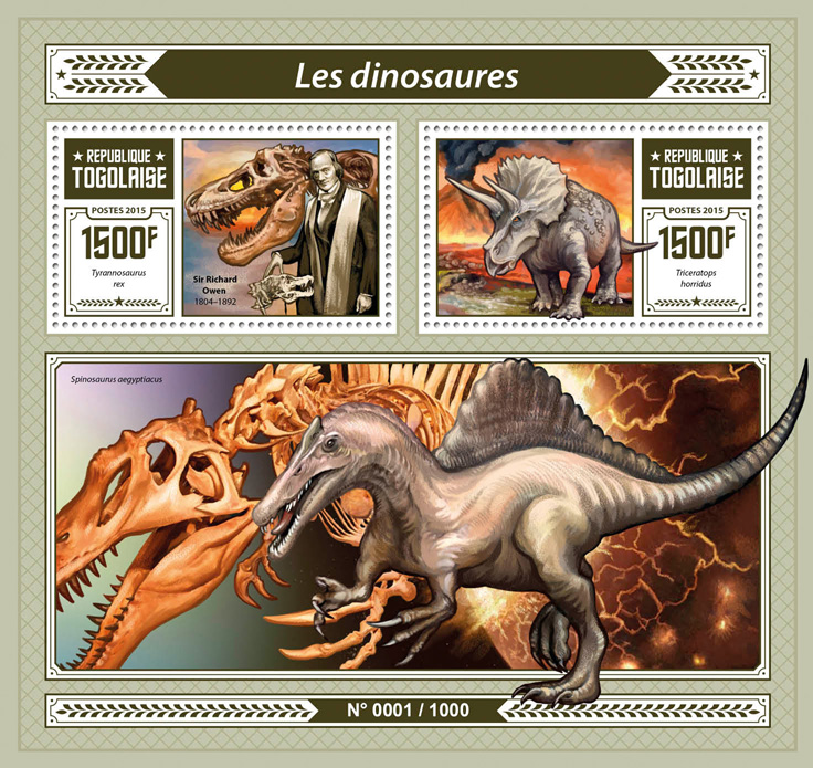 Dinosaurs - Issue of Togo postage stamps
