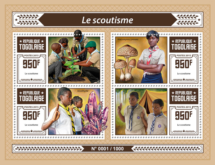 Scouting - Issue of Togo postage stamps