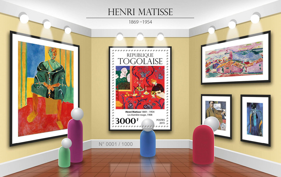 Henri Matisse - Issue of Togo postage stamps