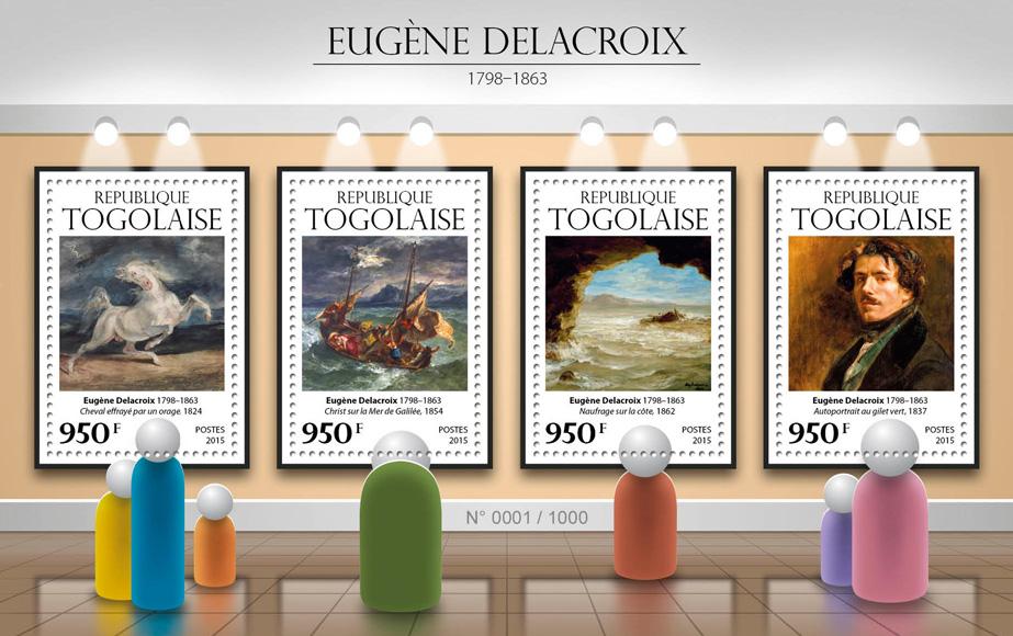 Eugene Delacroix - Issue of Togo postage stamps