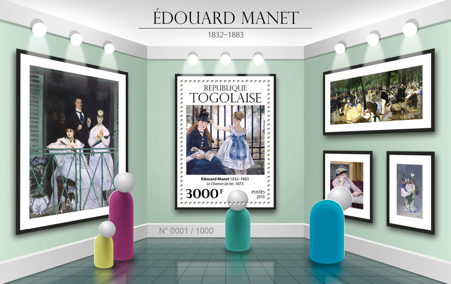 Edouard Manet - Issue of Togo postage stamps