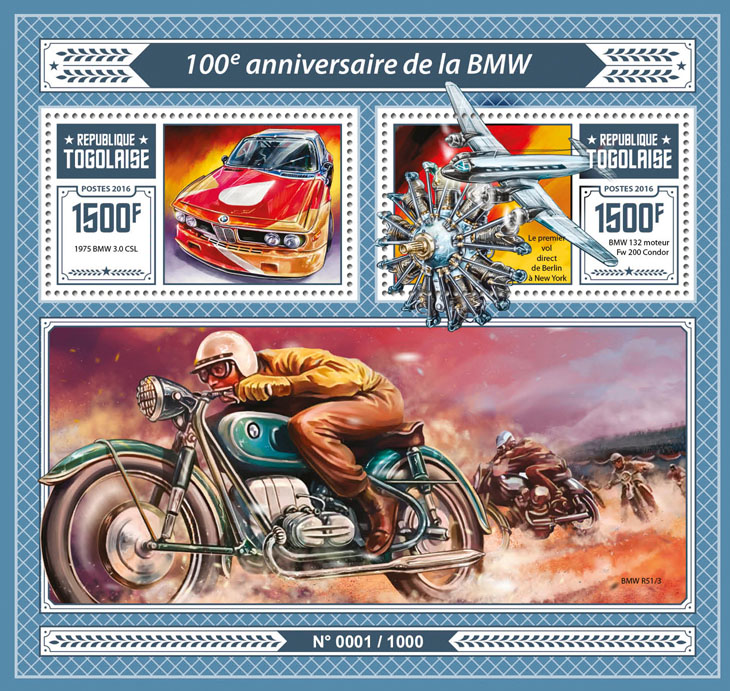 BMW - Issue of Togo postage stamps