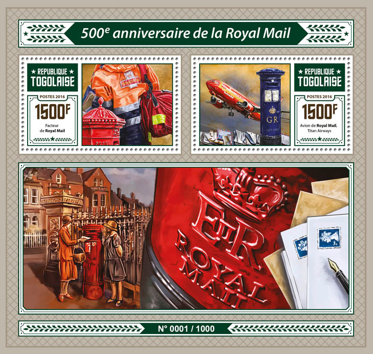 Royal Mail - Issue of Togo postage stamps