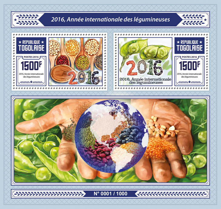 Legumes - Issue of Togo postage stamps