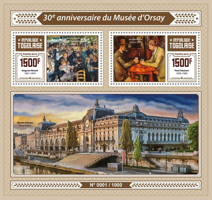 Orsay Museum - Issue of Togo postage stamps