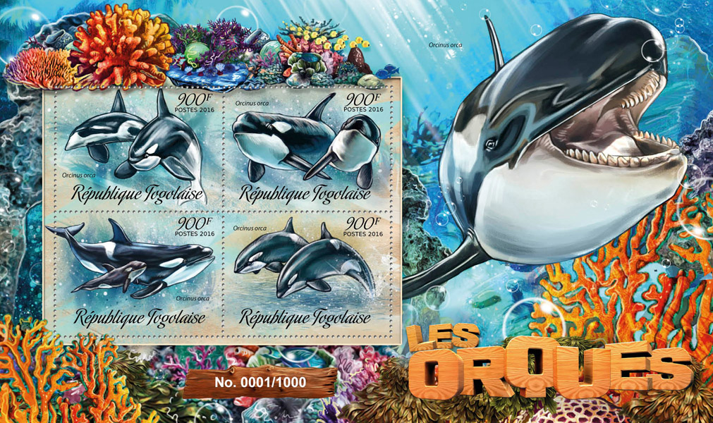 Orcas - Issue of Togo postage stamps