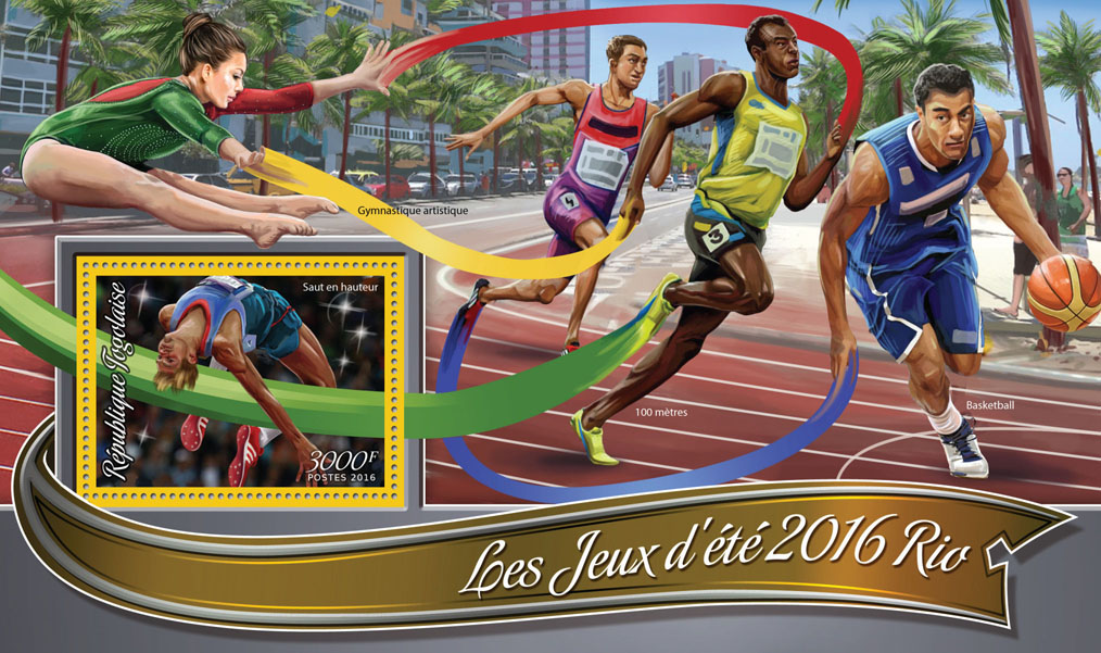 Summer Games Rio 2016 - Issue of Togo postage stamps