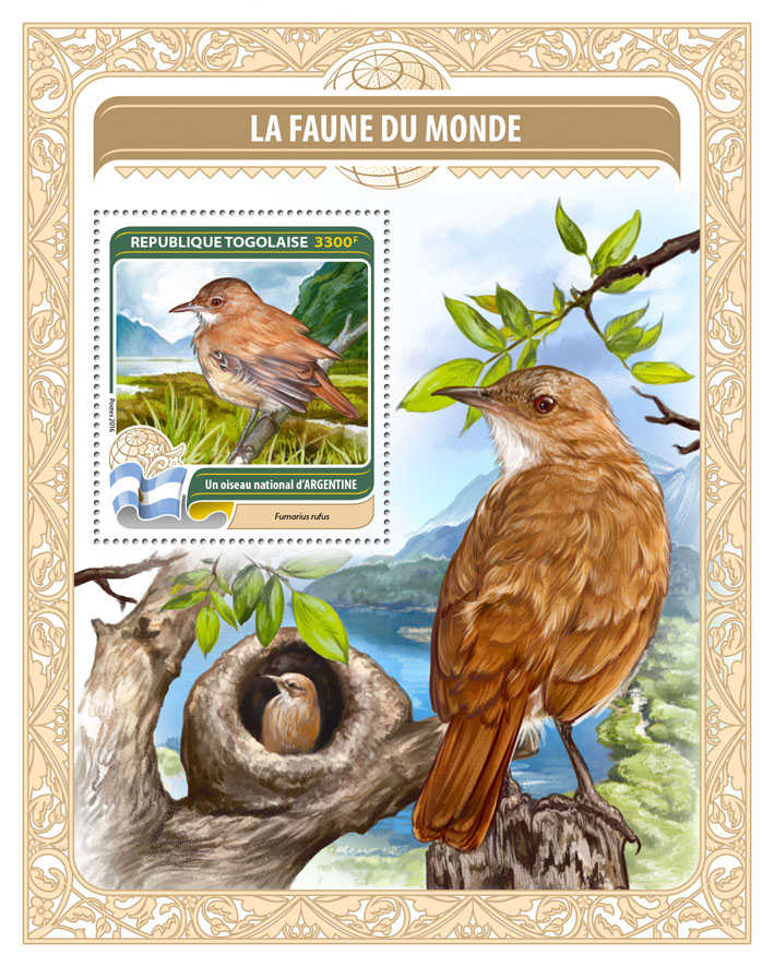 National bird of Argentina - Issue of Togo postage stamps