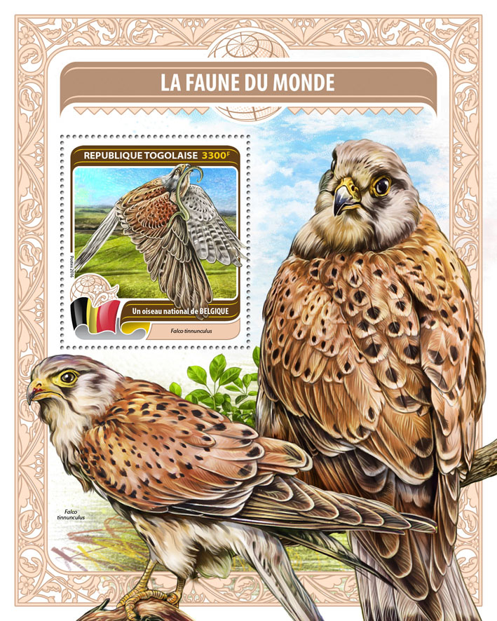 National bird of Belgium - Issue of Togo postage stamps