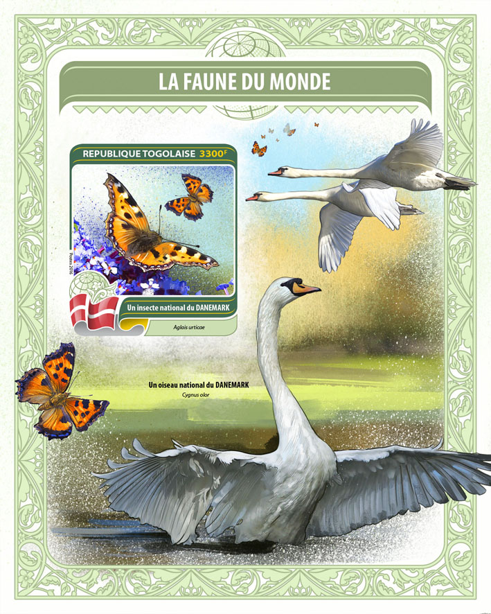 National insect of Denmark - Issue of Togo postage stamps