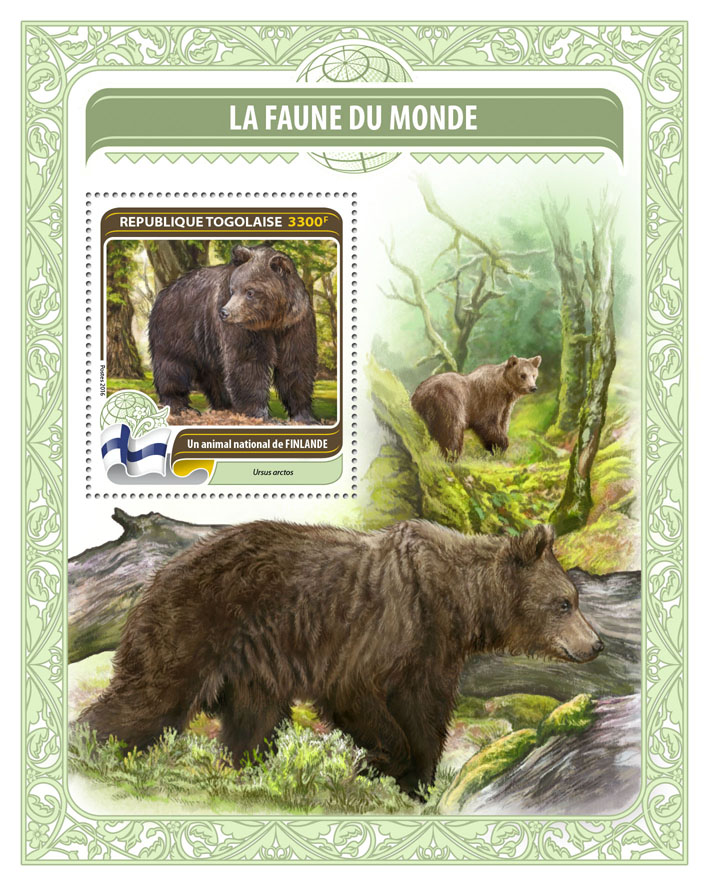 National animal of Finland - Issue of Togo postage stamps