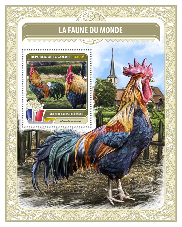 National bird of France - Issue of Togo postage stamps