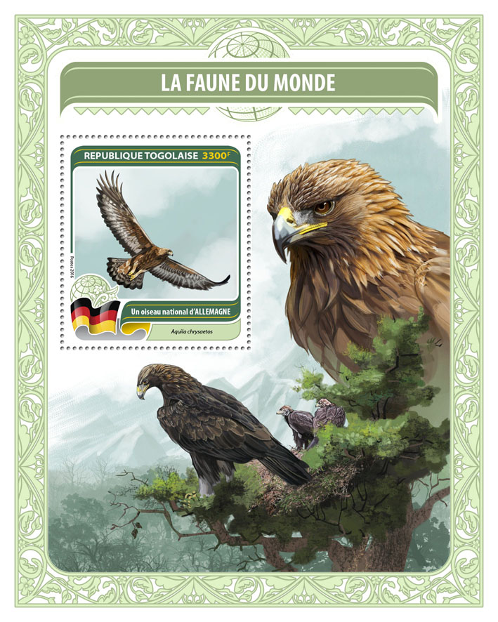 National bird of Germany - Issue of Togo postage stamps