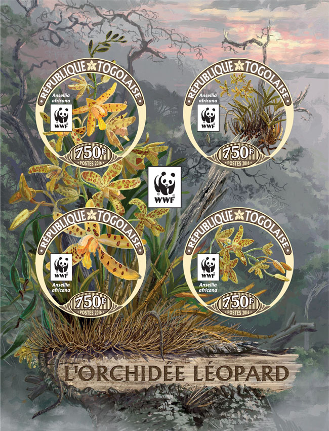 WWF – Orchids (imperf. Set) - Issue of Togo postage stamps