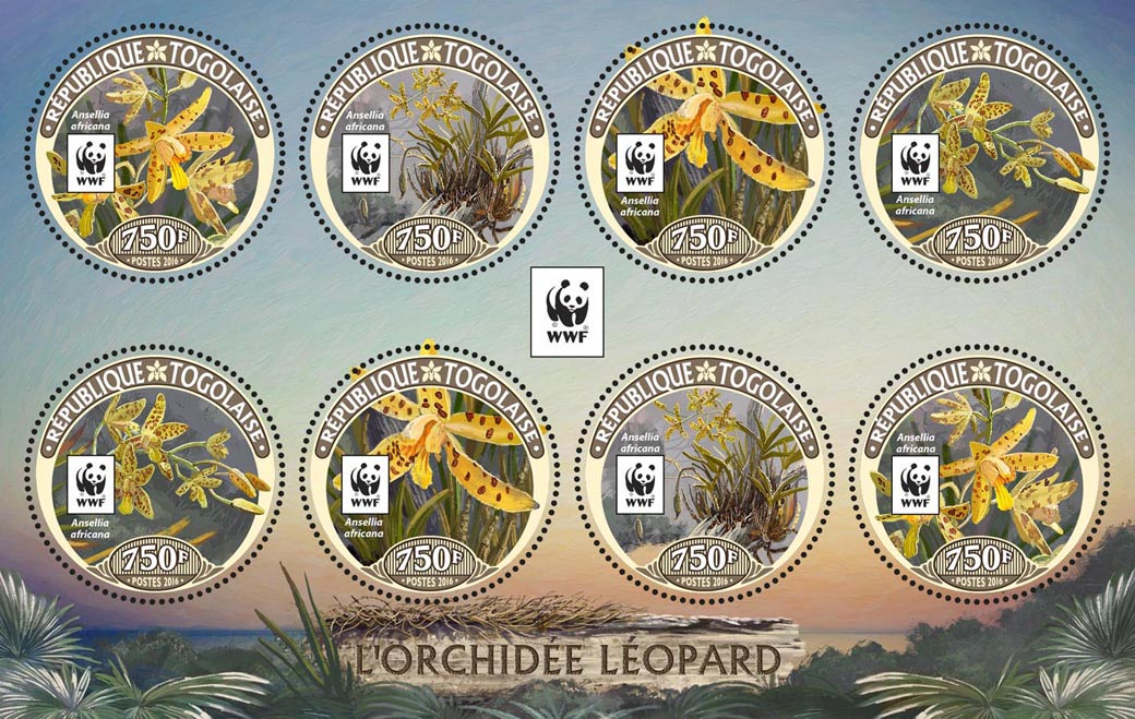 WWF – Orchids (2 sets) - Issue of Togo postage stamps