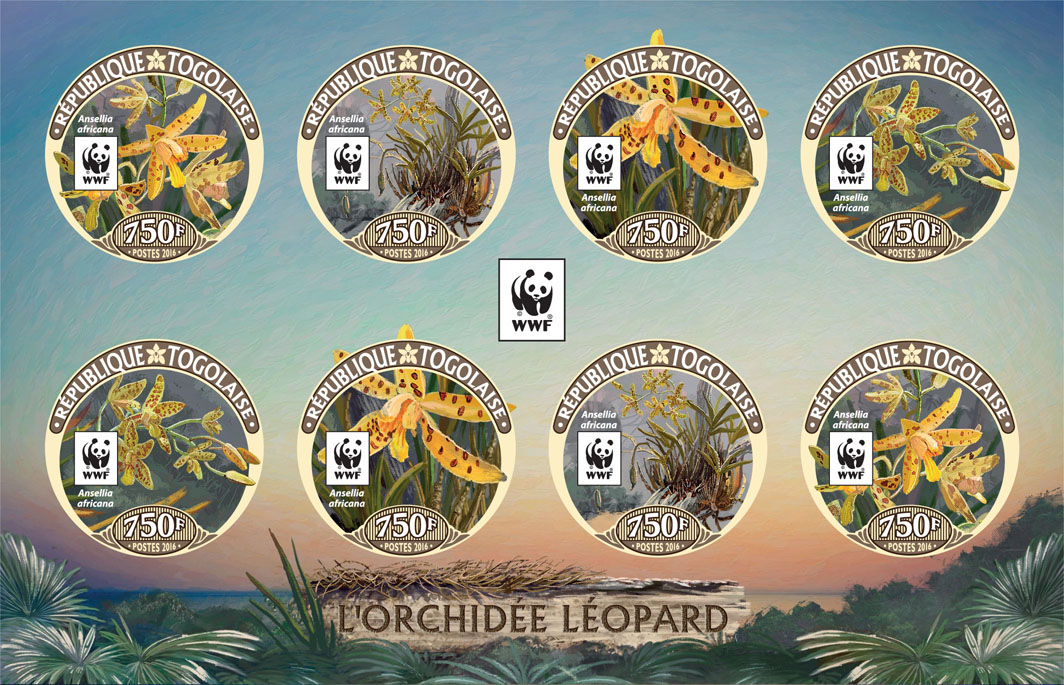 WWF – Orchids (imperf. 2 sets) - Issue of Togo postage stamps