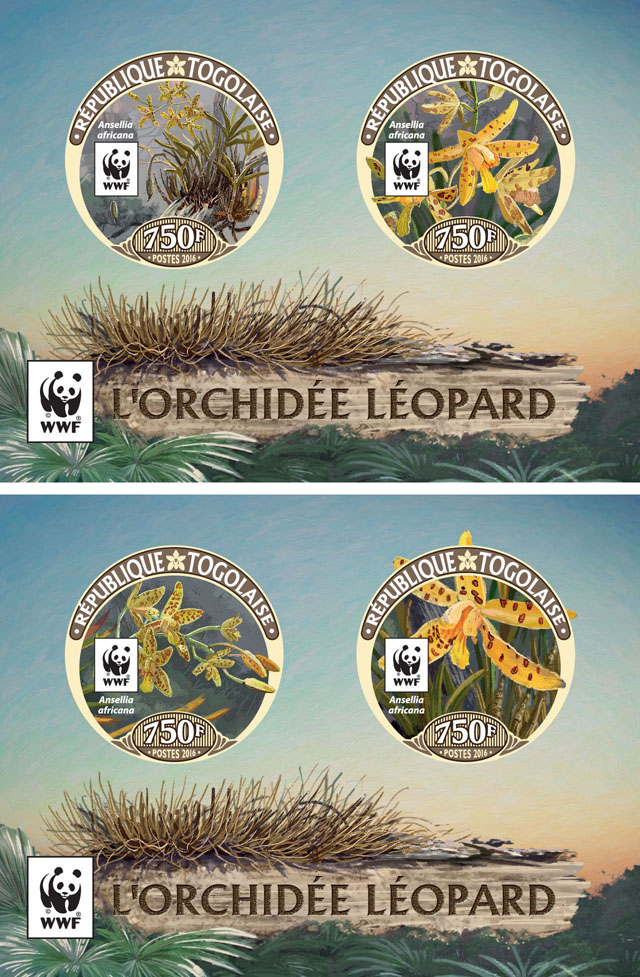 WWF – Orchids (imperf. Set of 2 sheet)) - Issue of Togo postage stamps