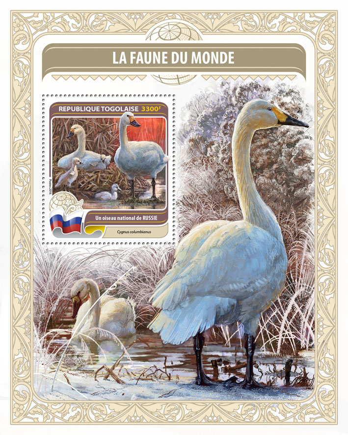 National bird of Russia - Issue of Togo postage stamps