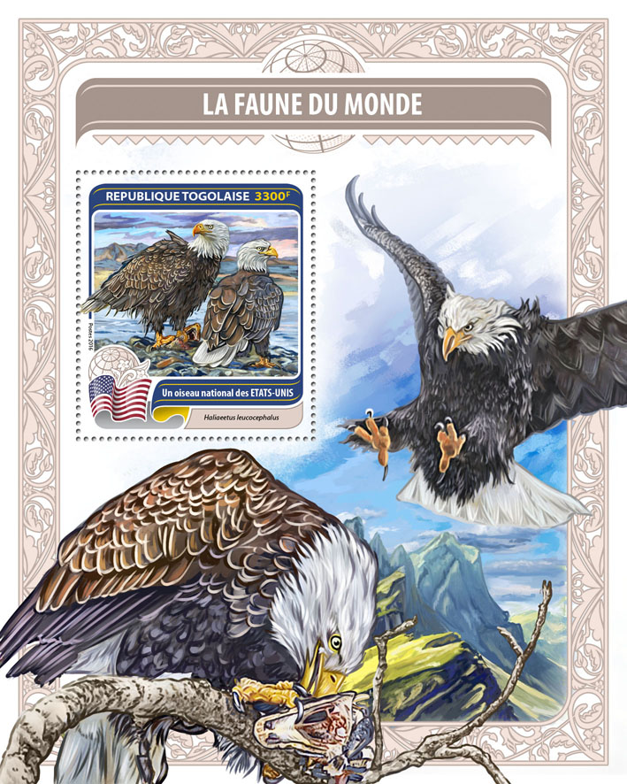 National bird of United States of America - Issue of Togo postage stamps
