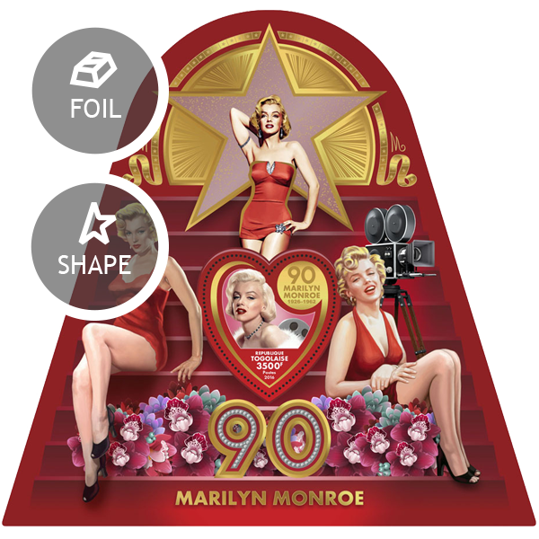 Marilyn Monroe - Issue of Togo postage stamps