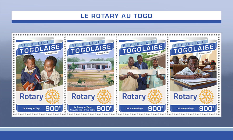 Rotary - Issue of Togo postage stamps