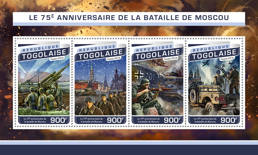Battle of Moscow - Issue of Togo postage stamps