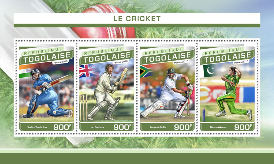 Cricket - Issue of Togo postage stamps