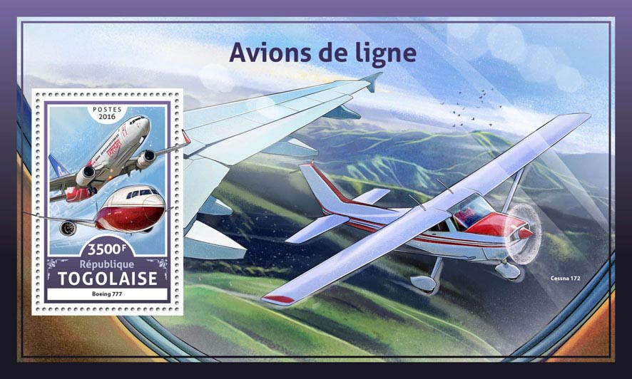 Airliners - Issue of Togo postage stamps