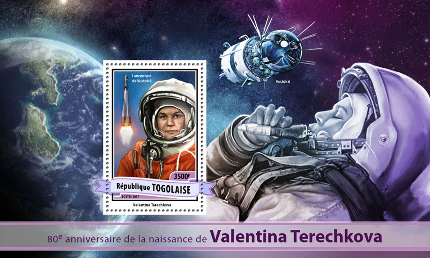 Valentina Tereshkova - Issue of Togo postage stamps