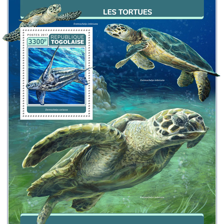 Turtles - Issue of Togo postage stamps