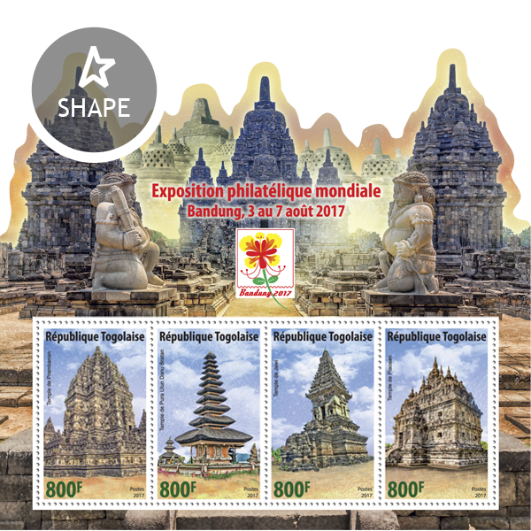 Bandung 2017 - Issue of Togo postage stamps