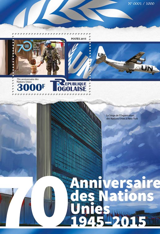 United Nations - Issue of Togo postage stamps
