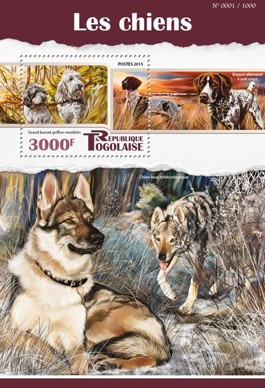 Dogs - Issue of Togo postage stamps