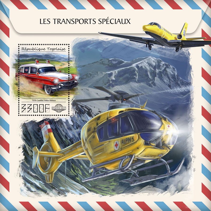 Special transport - Issue of Togo postage stamps