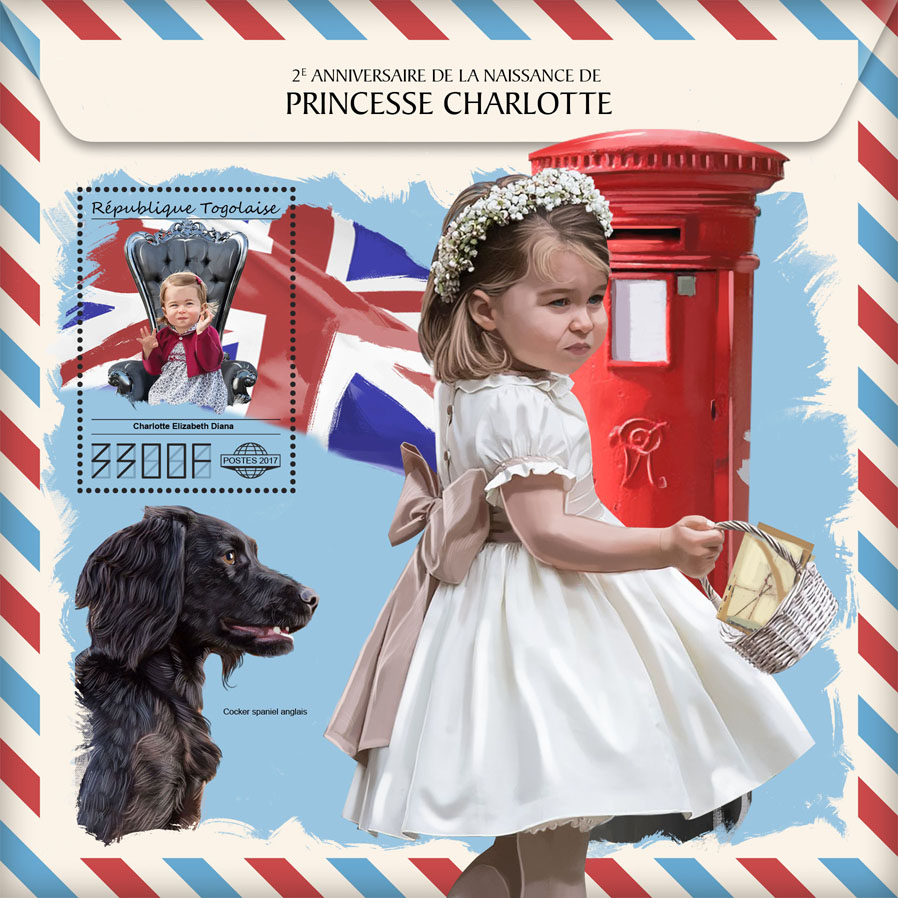 Princess Charlotte - Issue of Togo postage stamps