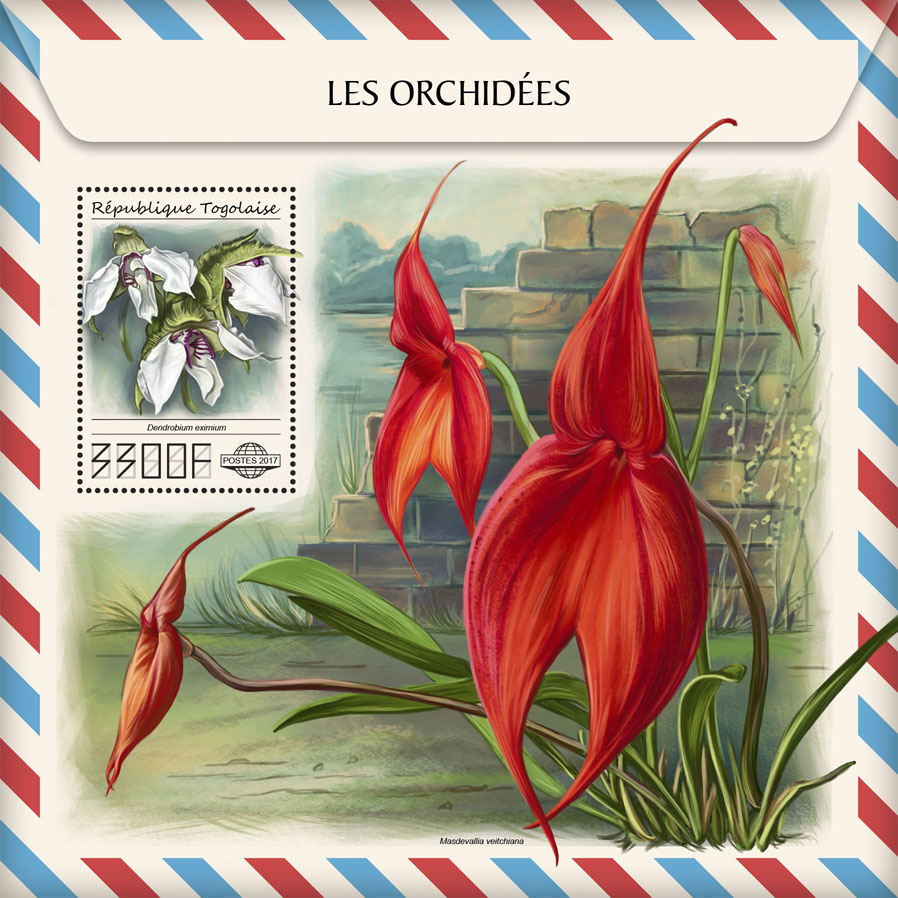 Orchids - Issue of Togo postage stamps