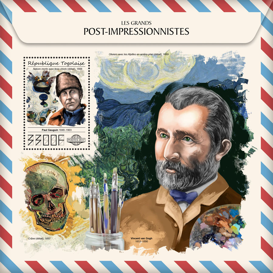 Great post-impressionists - Issue of Togo postage stamps