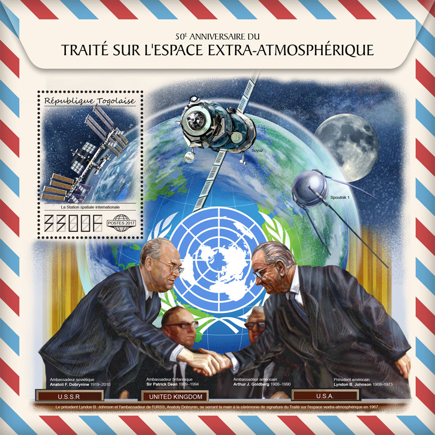 Outer Space Treaty - Issue of Togo postage stamps