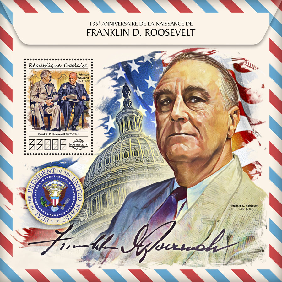 Franklin D. Roosevelt - Issue of Togo postage stamps