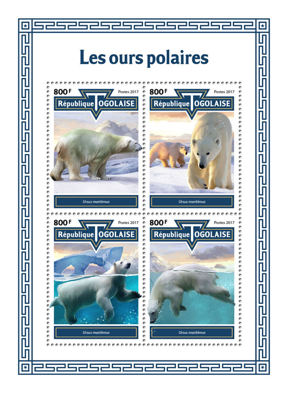 Polar bears - Issue of Togo postage stamps