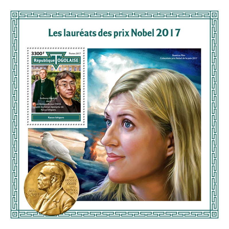 Nobel Prize - Issue of Togo postage stamps