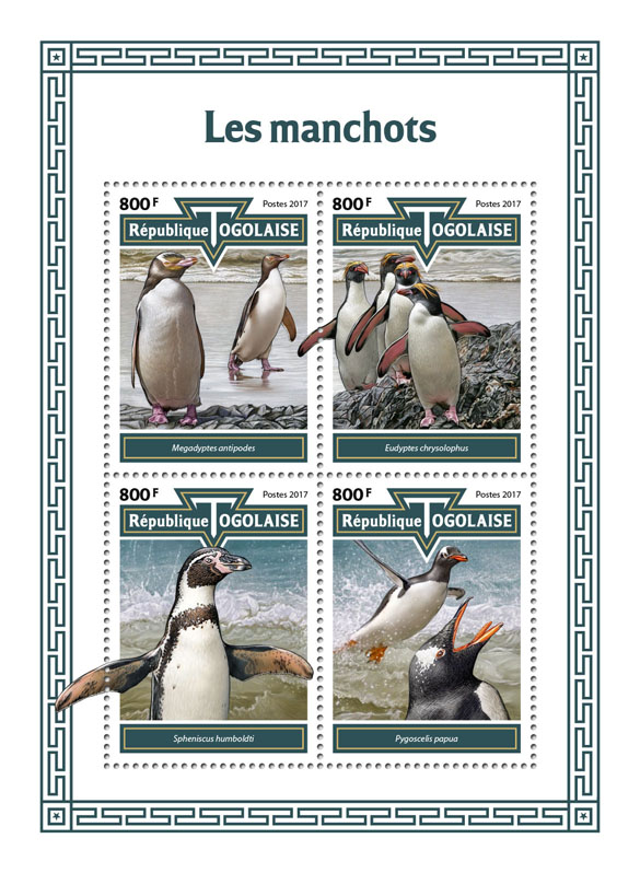 Penguins - Issue of Togo postage stamps