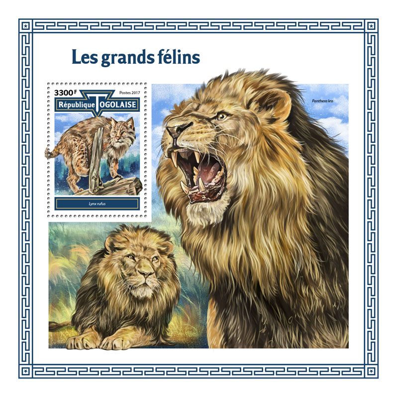 Big cats - Issue of Togo postage stamps