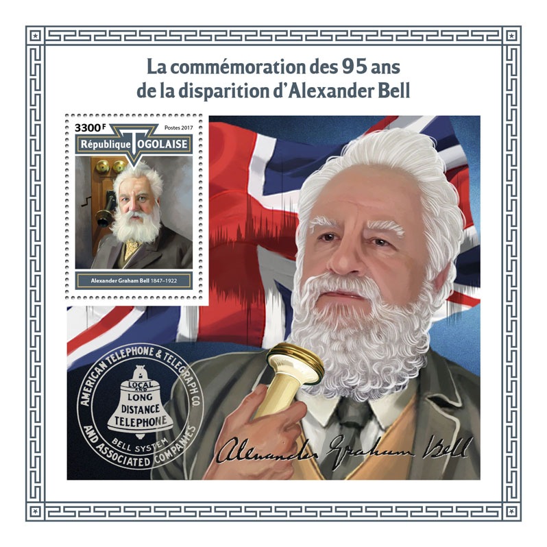 Alexander Bell - Issue of Togo postage stamps