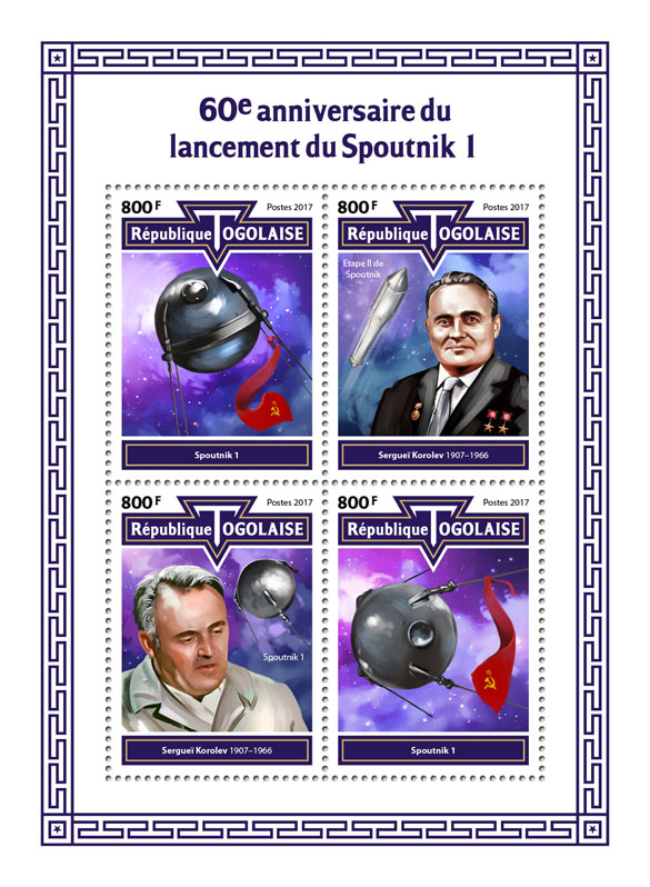 Sputnik 1 - Issue of Togo postage stamps